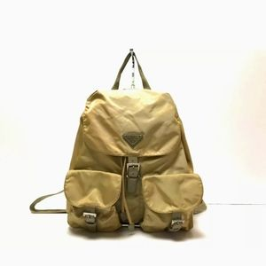 Vintage Prada Large Nylon Backpack Cammello